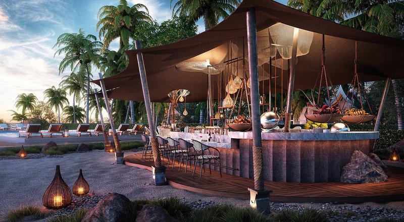 Banyan Tree Krabi Thailand - Die Bar am Pool