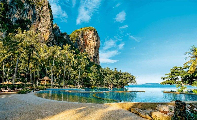 Rayavadee Krabi Thailand - Wunderbarer Infinitypool in grandioser Umgebung