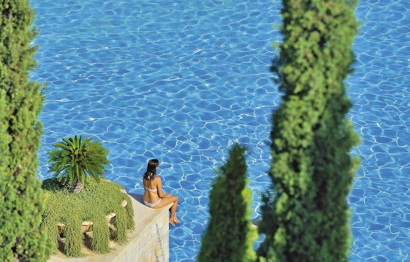 Anassa Luxushotel Zypern - Welch ein wunderbarer Blick auf den Pool