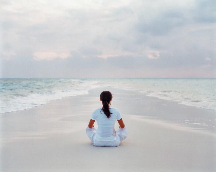Einfach nur am Strand entspannen und meditieren