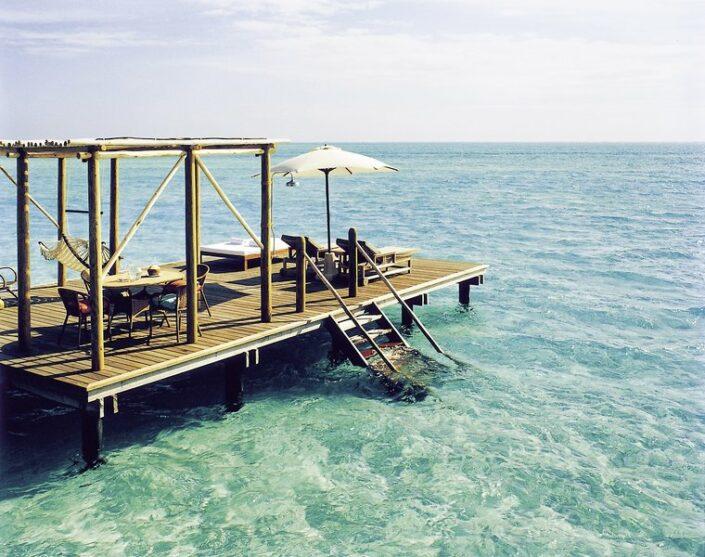 Private Terrasse über dem Meer