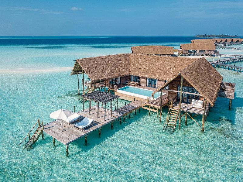 COMO Cocoa Island Luxusresort - Wunderbare Villen über dem Meer