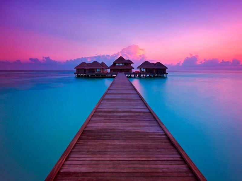 Huvafen Fushi Maldiven - Zauberhafte Farben auf den Malediven
