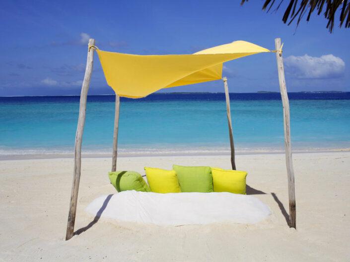 Six Senses Laamu Malediven - Entspannung am Strand