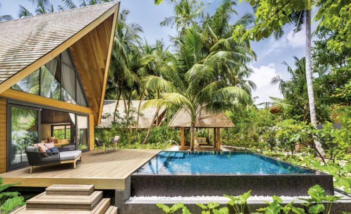 Wohnbeispiel Terrasse und Pool