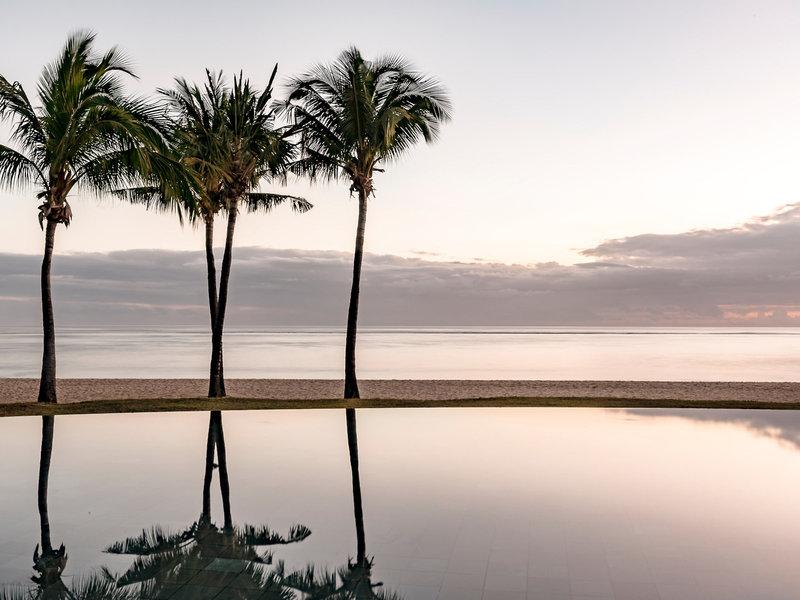 Es wird abend über Mauritius