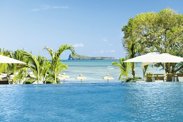 Zilwa Attitude Mauritius - Im Pool mit wunderbarem Blick auf den Ozean