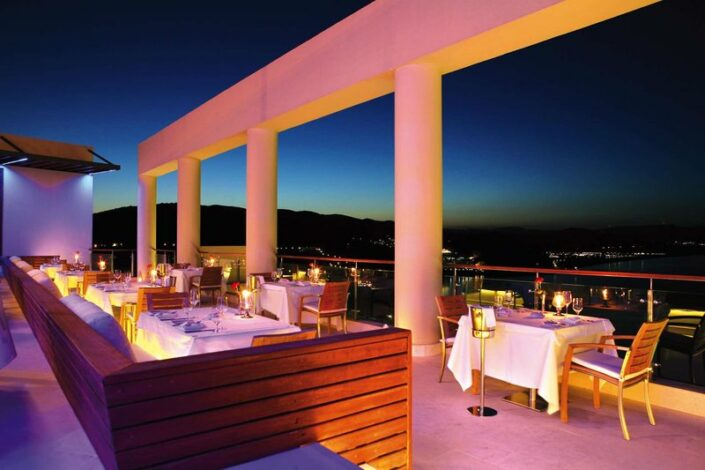 Lindos Blu Luxury Rhodos - Dinnertime