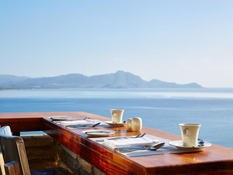 Lindos Blu Luxury Rhodos - Frühstück mit Meerblick