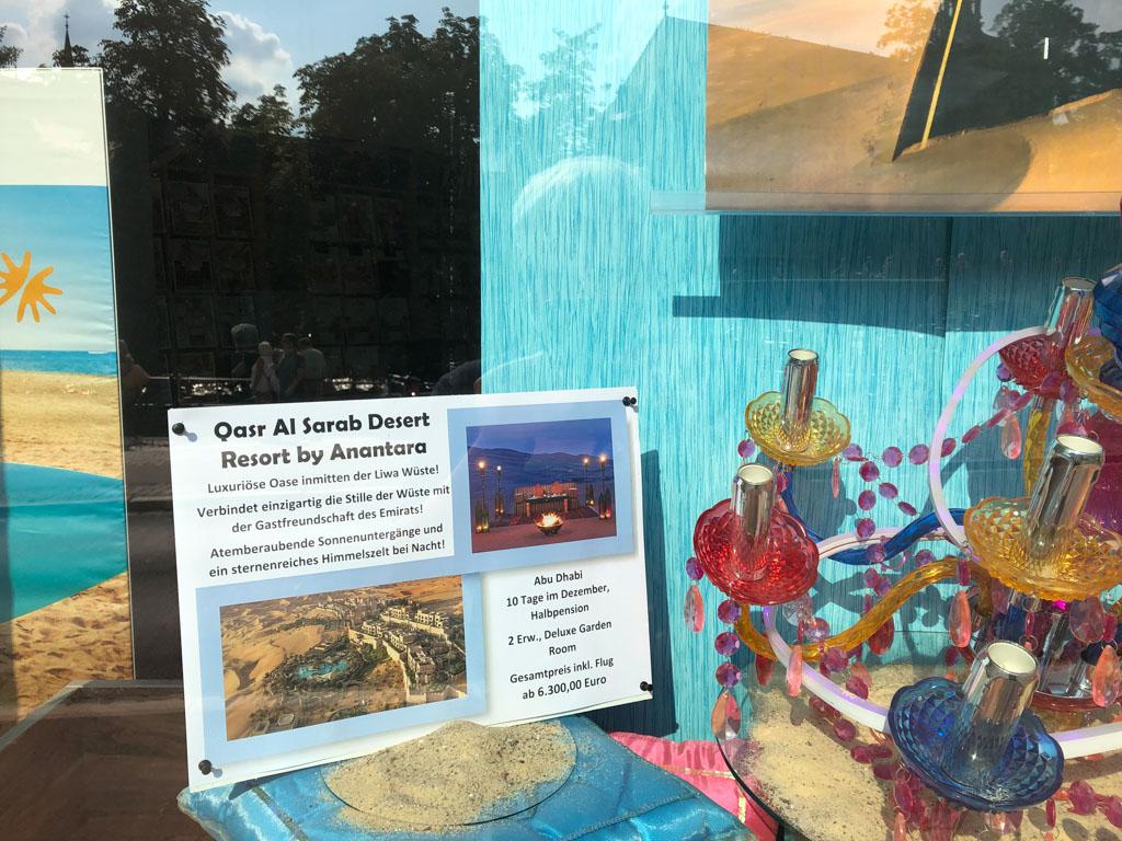Neue Schaufenster Deko - September 2021 - Traumreisen Bamberg