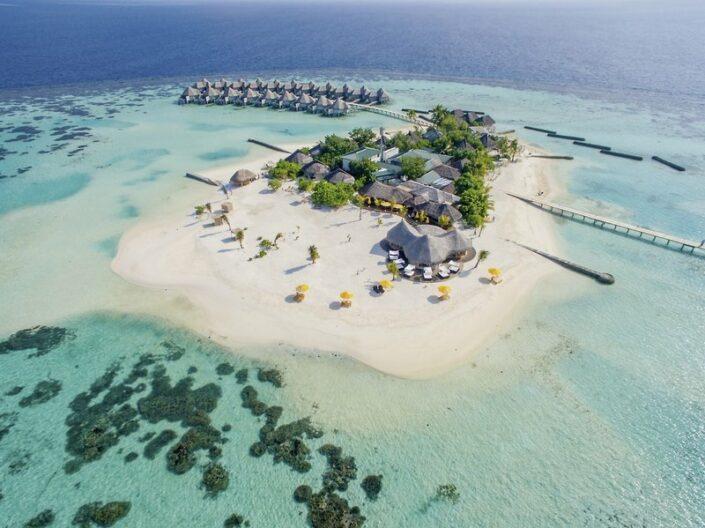 Drift Thelu Veliga Malediven - Blick auf die kleine, intime Insel