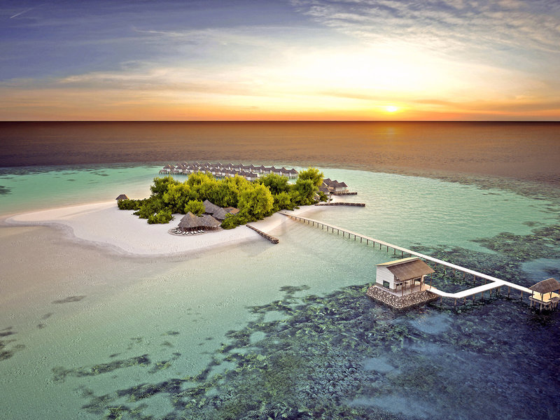 Drift Thelu Veliga Malediven - Traumhafter Blick auf das Eiland